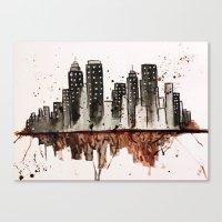 nyc Canvas Prints featuring NYC by Rosalia Mendoza