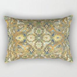 Safavid 'Polonaise' 17th Century Persian Carpet Print Rectangular Pillow