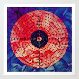 RED bulls eye Art Print