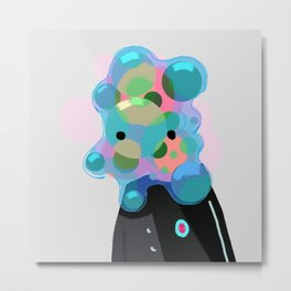 Bubblehead Metal Print