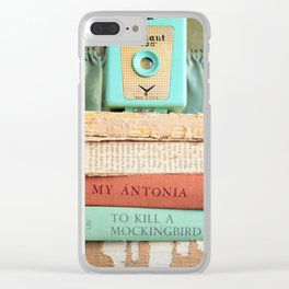 Vintage Suitcase - To Kill a Mockinbird / My Antonia Clear iPhone Case