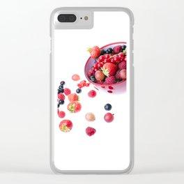 Fresh berries Clear iPhone Case