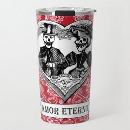 Amor Eterno | Eternal Love | Red and Black Travel Mug