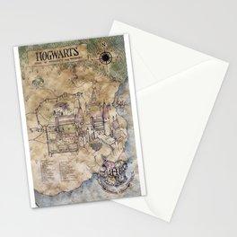 Hogwarts Map Stationery Cards
