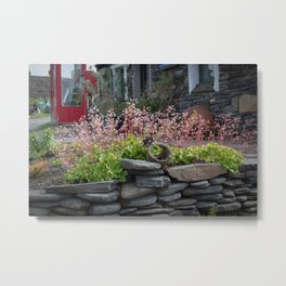 Waiting Room in Bloom. Metal Print
