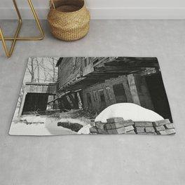 Old Barn, Yashica C, Black and White, Film, Medium Format Rug