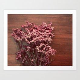 Vintage Purple Flowers Art Print