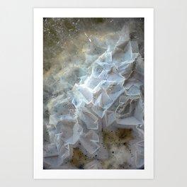 Crystal agate extreme closeup 0635 Art Print