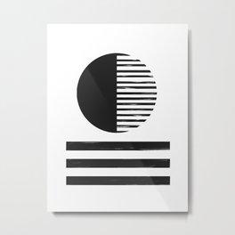Abstract Circle And Lines Metal Print