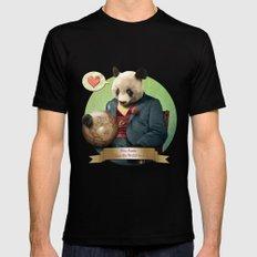 Wise Panda: Love Makes the World Go Around! Mens Fitted Tee MEDIUM Black