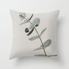 Stretch: minimalist botanical eucalyptus Throw Pillow