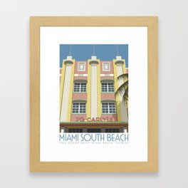 The Carlyle Hotel, Miami Beach Framed Art Print