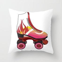 Rollerskates 5 Throw Pillow