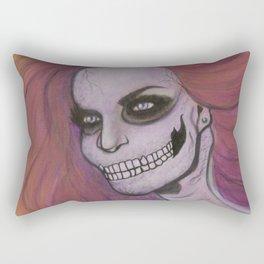 Skeleton Girl #2 Rectangular Pillow