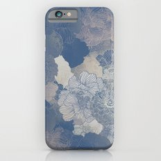 Airforce Blue Floral Hues  iPhone 6s Slim Case