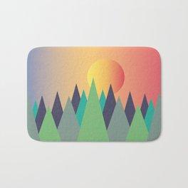 Mountains - The Sunset Bath Mat