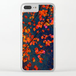 furious red leaves Clear iPhone Case
