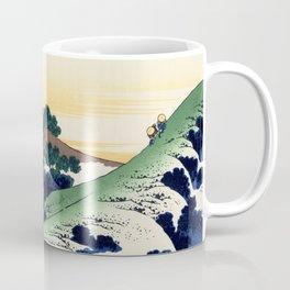 """Hokusai (1760-1849)  """"Inume Pass"""" Coffee Mug"""