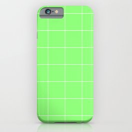 Graph Paper (White & Light Green Pattern) iPhone Case