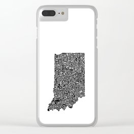 Typographic Indiana Clear iPhone Case
