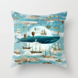 Ocean Meets Sky (from book)- square format Throw Pillow