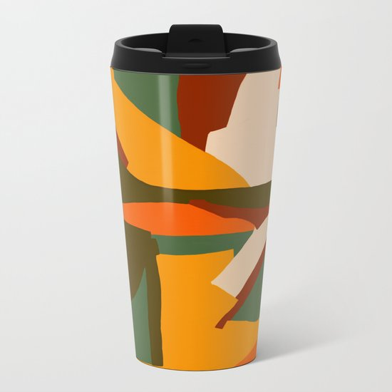 A New Way Of Seeing Abstract Landscape Metal Travel Mug