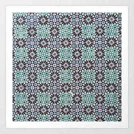 Portuguese Tile Pattern Art Print