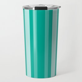 Aqua Victorian Lady Stripe Travel Mug