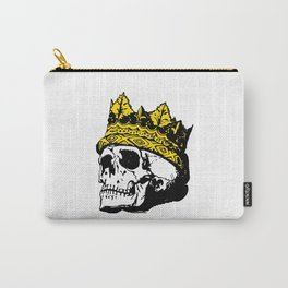 Skull with a Gold Crown Carry-All Pouch