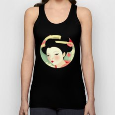 Geisha: Rose Unisex Tank Top