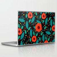 leah flores Laptop & iPad Skins featuring Flores by Ary Marín