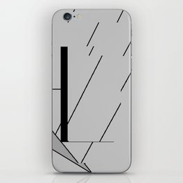Grey Triangles Pattern iPhone Skin