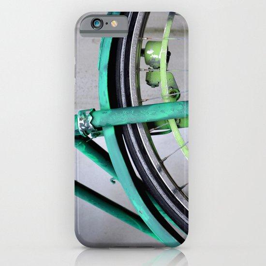 Green bike iPhone & iPod Case