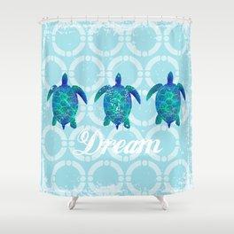 Turtle dream dreamer summer, illustration original painting print Shower Curtain