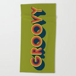 Groovy Beach Towel