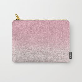 Trendy girly pink gradient elegant glitter Carry-All Pouch