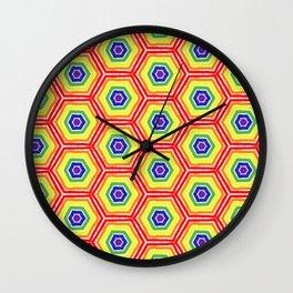 Pride Honeycomb Wall Clock