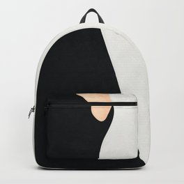 Black and White Model Flow Backpack