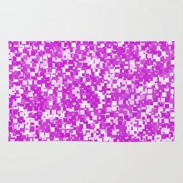 Dazzling Violet Pixels Rug