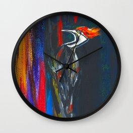 Fire Bird (Pileated Woodpecker) Wall Clock