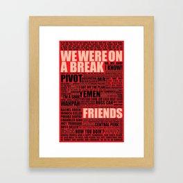 Friends (red) Framed Art Print