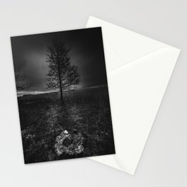 On the wrong side of the lake 3 Stationery Cards