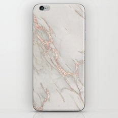 Marble Rose Gold Blush Pink Metallic by Nature Magick iPhone Skin