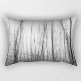 The haunting forest, black and white Rectangular Pillow