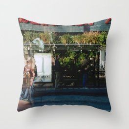Greener Busses - overlapper Throw Pillow