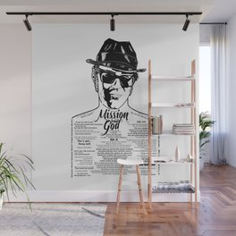 Elwood Blues Brothers tattooed 'Dry White Toast' Wall Mural