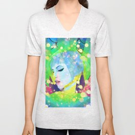 Digital Painting - Hayley Williams - Variation 2 Unisex V-Neck
