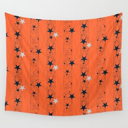 Orange Juice Stars Wall Tapestry