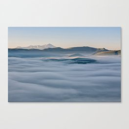 Above the fog, Castelluccio, Italy Canvas Print