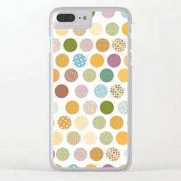 bohemian circles Clear iPhone Case